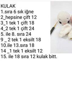 narince ( · · · · Swipe left over the screen . Crochet Bear Patterns, Crochet Doll Pattern, Amigurumi Patterns, Amigurumi Doll, Crochet Dolls, Doll Patterns, Crochet Baby, Knit Crochet, Free Knitting