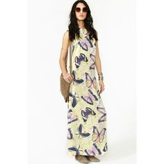 Butterfly Effect Maxi Dress ($44) ❤ liked on Polyvore