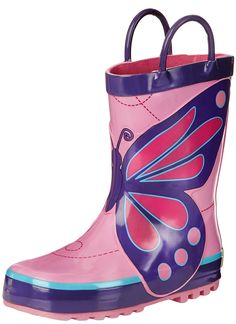Western Chief Wings Rain Boot (Toddler/Little Kid/Big M US Little Kid. Fabric lining. Easy-on pull handles and a grippy tread give her comfort and convenience in this charming rain boot from Western Chief. Girls Rain Boots, Kids Boots, Girls Shoes, Kid Shoes, Big Kids, Kids Girls, Butterfly Wings, Animals For Kids, Shoes Online