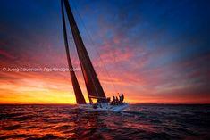 Impressive Sunset on Lake Constance Sailing Regatta, Sunset, Image, Sunsets