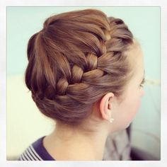 Hairstyles for little girls #hair #ideas #girls #fryzury #bun #children