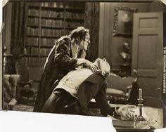 Production still from the film, with John Barrymore as Hyde.