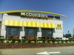 The front entrance of the McDonald's located at 4800 Towson Avenue Fort Smith, AR 7201