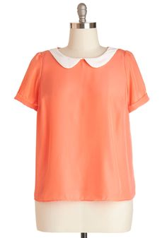 Guest Appearance Top in Peach in Plus Size. Your BFFs band featured you on one of their songs and tonight is the live debut! #coral #modcloth