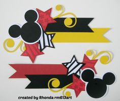 Disney Mickey Mouse Paper Piecing SET FOR Scrapbook Pages Rhonda RM613ART   eBay