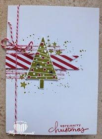 Magical Scrapworld: festival of trees, Stampin' Up! Stamped Christmas Cards, Homemade Christmas Cards, Christmas Cards To Make, Noel Christmas, Christmas Greeting Cards, Christmas Greetings, Greeting Cards Handmade, Homemade Cards, Handmade Christmas