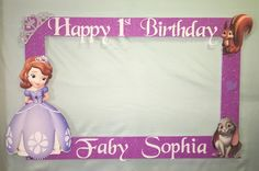Photo Booth Frame to Take Pictures Sofía The First Birthday | eBay