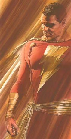 Captain Marvel / Shazam by Alex Ross Original Captain Marvel, Captain Marvel Shazam, Ms Marvel, Comic Book Artists, Comic Artist, Comic Books Art, Arte Dc Comics, Dc Comics Superheroes, Alex Ross