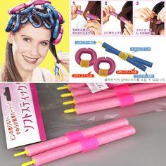 2016 New 12pcs/set 55cm Hair Curler Magic Curling Iron Hair Roller Curling Iron Hair Styler tools