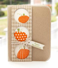 Love the circle windows: Peek-a-boo Pumpkins by Lisa Lisa - Cards and Paper Crafts at Splitcoaststampers