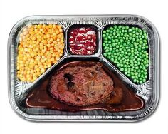 TV dinners. To be eaten off one of those little aluminum tables while watching black and white television shows on one of the 3 network channels we got. The things you forget about and then remember in an instant...LOL