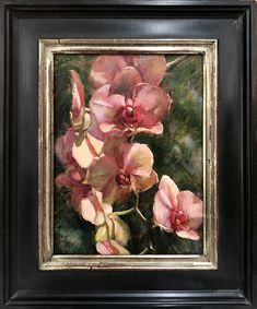 Jenny Buckner - Work Zoom: Trail of Pink Custom Framing, Orchids, Trail, Artwork, Artist, Pink, Painting, Work Of Art, Auguste Rodin Artwork