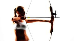 How to Exercise for Archery   Archery Lessons - I dislike this photo the leaning back (shifting her torso over the hip as opposed to keeping centered) seems off to me. BUT the little exercizes int he video are actually pretty good, just do NOT let go of the strong when in a drawn position. That can hurt and possibly break your bow.