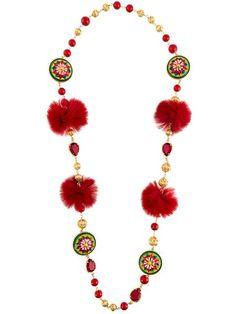 Shop Dolce & Gabbana decorative necklace.
