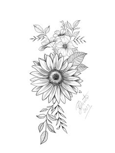Awesome tattoos for girls are offered on our website. Take a look and you wont be sorry you did. Hand Tattoos, Cute Tattoos, Body Art Tattoos, Small Tattoos, Sleeve Tattoos, Awesome Tattoos, Tatoos, Sunflower Drawing, Sunflower Tattoos