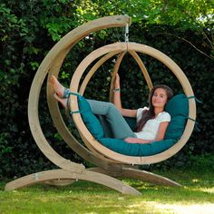 This single product goes by two different common names, either a hanging chair or a hammock chair. Hanging Swing Chair, Swing Seat, Hammock Swing, Hammock Chair, Swinging Chair, Hammock Ideas, Hanging Chairs, Hanging Basket, Chair Cushions