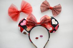 Valentine's Day Mouse Ears by DoodadsByDesign on Etsy