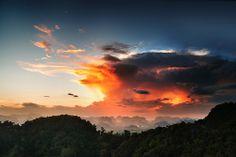 Tiger Temple Krabi - Thailand. Sunset photography