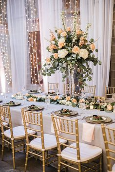 Wedding Flowers, Table Settings, Wedding Ideas, Table Decorations, Floral, Furniture, Home Decor, Decoration Home, Room Decor