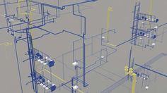 Plumbing-Riser Diagram. View more MEP BIM Modeling projects at http://www.bimservicesindia.com/mep-bim-portfolio.php.