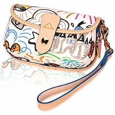 Take a stylish walk down memory lane with this Disney Sketch Wristlet Bag by Dooney & Bourke.