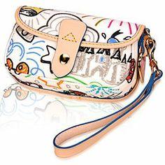 Disney Sketch Wristlet Bag by Dooney & Bourke [Take a closer look... http://disneydb.blogspot.com]