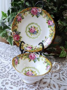 Paragon Tapestry Rose Footed Teacup by NostalgicRose, $26.00