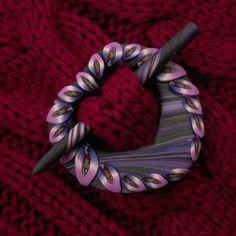 Harapati - biżuteria z FIMO i Art Clay... (My polymer clay and art clay jewelry): spinki do chust / szali