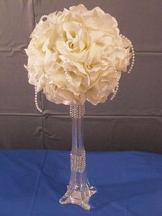Wedding Centerpiece // Banquet Flowers // by MajesticSilkFlowers