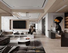 Modern Townhouse Interior, Modern Home Interior Design, Modern Bedroom Design, Home Room Design, Apartment Interior, Interior Design Living Room, Contemporary Interior, Living Room Tv Unit Designs, Living Room Modern