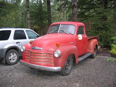 old red chevy truck - Google Search