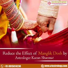 #Reduce the effect of #Manglik #Dosh by #Astrologer Karan Sharma