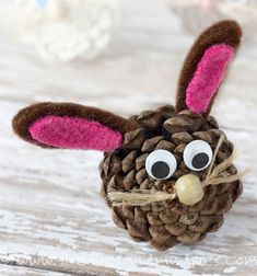 In honor of spring and Easter craft some cute pine cone bunnies! Pine cones have an amazing texture, are free, and can be adapted for many seasonal crafts. Through this pine cone bunny craft, kids will connect with nature, ...