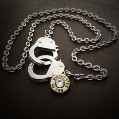 Bullet Jewelry by JECTZ® - Freedom Handcuff Bullet Necklace, $39.95 (http://www.jectz.com/freedom-handcuff-bullet-necklace/)