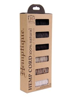 Hemp Cord  Polished Sand  6 Pack by HempTrend on Etsy