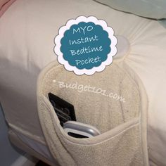 MYO Bed Time Pocket- Have you stuck things under your pillow, only to find in the middle of the night, you are sleeping on them? How many times have you gone somewhere to spend the night and wish you could have a special spot for those personal items? (Click on photo for more)