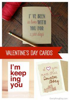 Valentine's Day Cards on Etsy - EverythingEtsy.com #etsy #handmade
