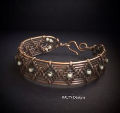 Oxidised copper wire