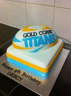 gold coast titans birthday cake