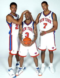 Shawn Marion, Stephon Marbury and Anfernee Hardaway 2001 ...