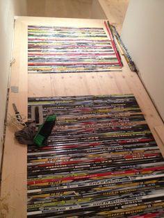 pjbconstruction:     hockey stick hallway flooring inlays