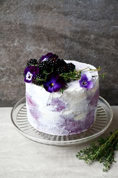 Blueberry Cake with Coconut Frosting glutenfree vegan Recipe