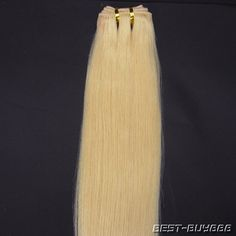 20inch Proffessional Asian Remy Weft Human Hair Extension Salon 613 light blonde