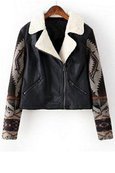 Tribal PU Jacket OASAP.com