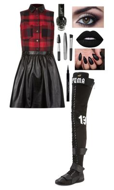 """."" by the-mighty-fail on Polyvore featuring Puma, Sephora Collection, Lime Crime and Givenchy"