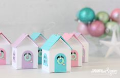 3D Christmas House Ornaments - A Spoonful of Sugar@silhouettepins #silhouetteportrait