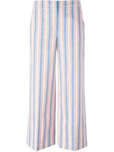 TORY BURCH Wide Leg Striped Trousers. #toryburch #cloth #trousers