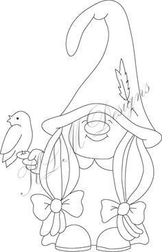 The Effective Pictures We Offer You About Waterpark cartoon A quality picture can tell you many things. You can find the most beautiful pictures that can be presented to you about Waterpark tips in th Christmas Gnome, Christmas Crafts, Girl Gnome, Wood Burning Patterns, Halloween Prints, Black And White Drawing, Design Girl, Applique Patterns, Digi Stamps