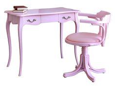Arredare in rosa, Pink positive! - Homidoo Scrivania rosa + sedia girevole in rosa. Arredo cameretta, arredo studio. http://www.homidoo.it/arreda-rosa-pink-positive/