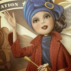 Nina de San é uma ilustradora francesa, trabalha no editorial de revistas e livros infantis.   Bon voyage!